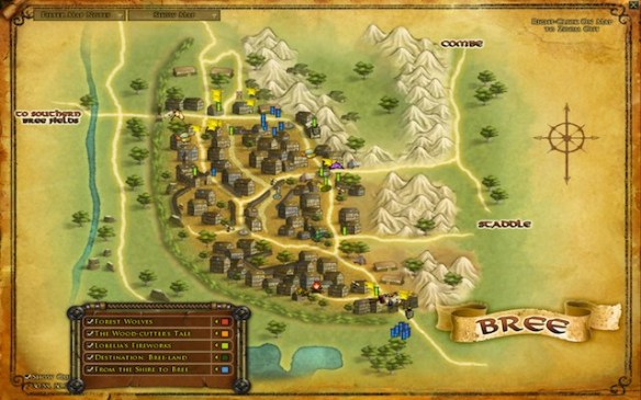 lotr Bree town map - small