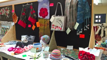 A variety of the felting on display