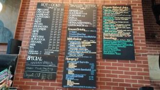 CoffeeHouse menu