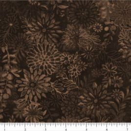 108″ Dark Brown Flower Bursts