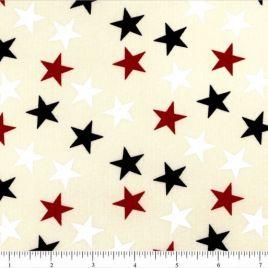 108″ RWB Stars(lg) on Cream