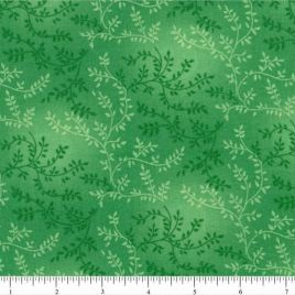 108″ Aqua Green Leaves