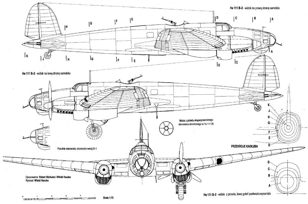 He111B through J Exterior Details