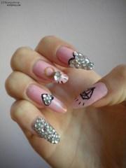 diamond nails unicorns