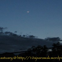 Smiley moon from eastern sky
