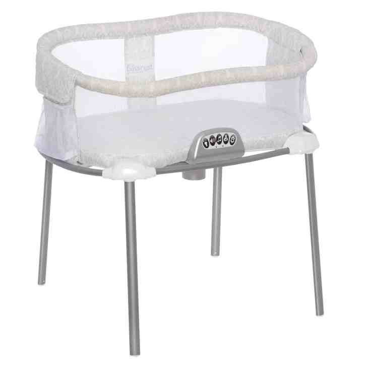 Halo bassinet attached to bed