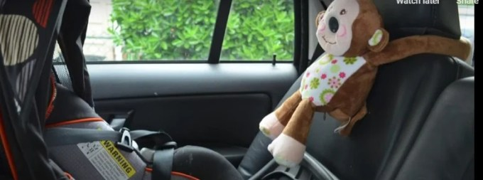 Always in View mounted on car seat headrest