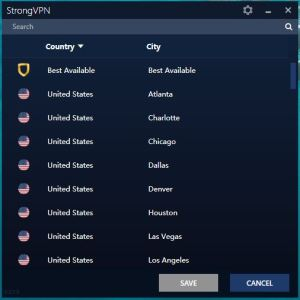 StrongVPN Windows 中国VPN翻墙 服务器选择