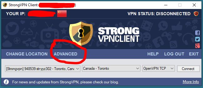 StrongVPN 中国版APP ADVANCED