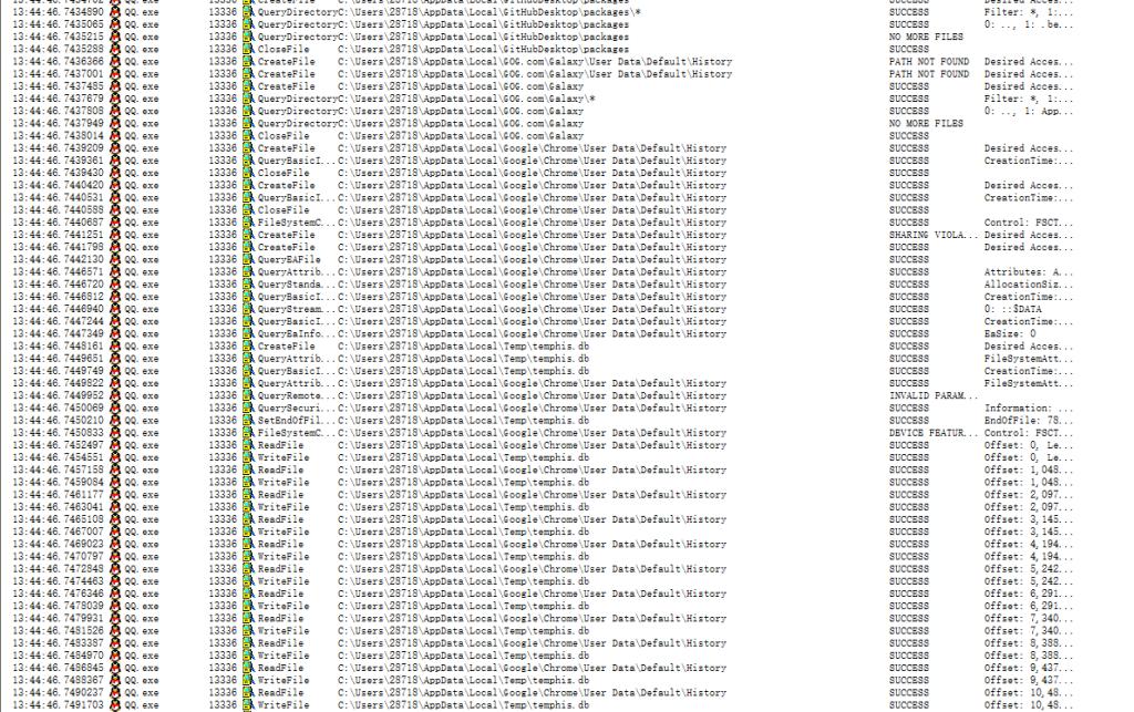 TIM 读取Chrome历史记录