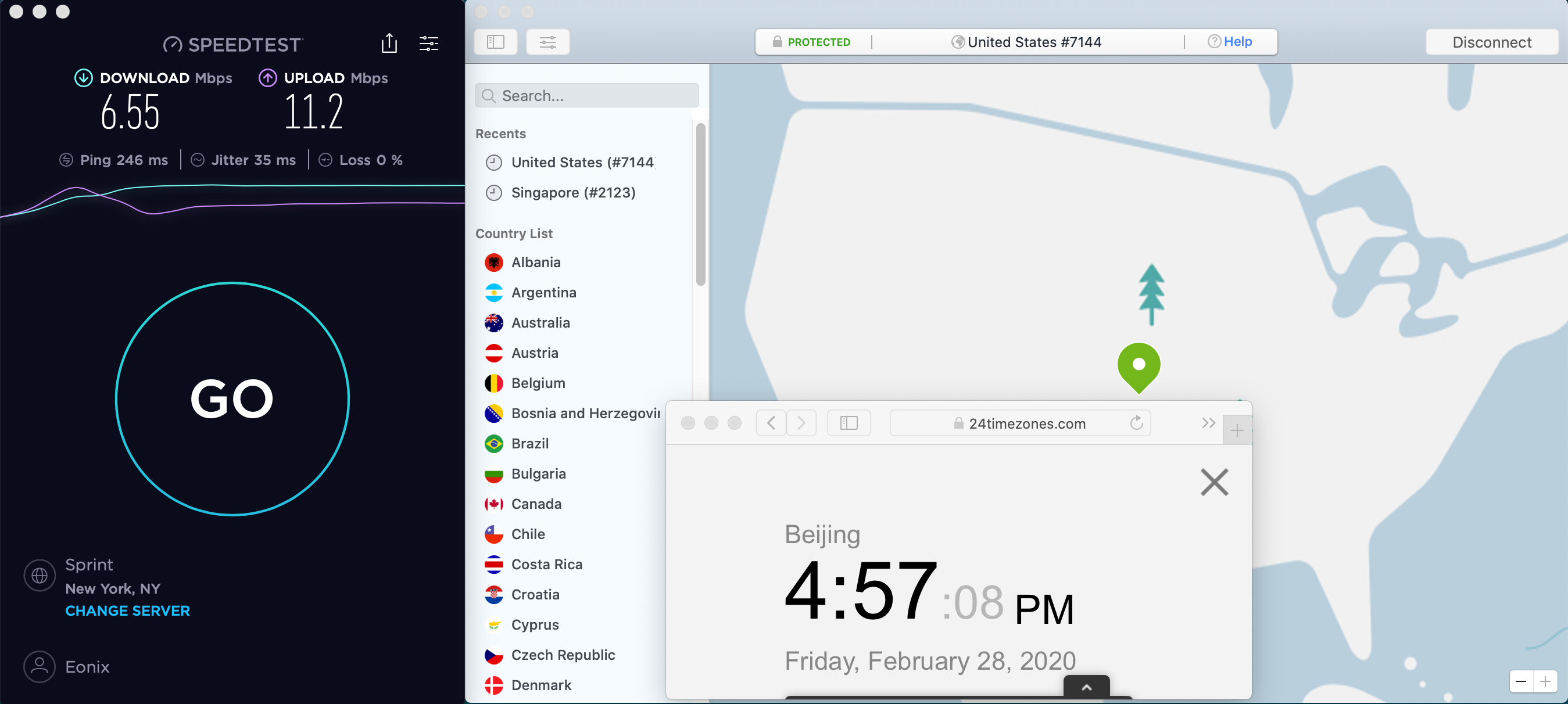 Macbook NordVPN USA #7144 中国VPN翻墙 科学上网 SpeedTest测速 2020-02-28 at 16.57.09