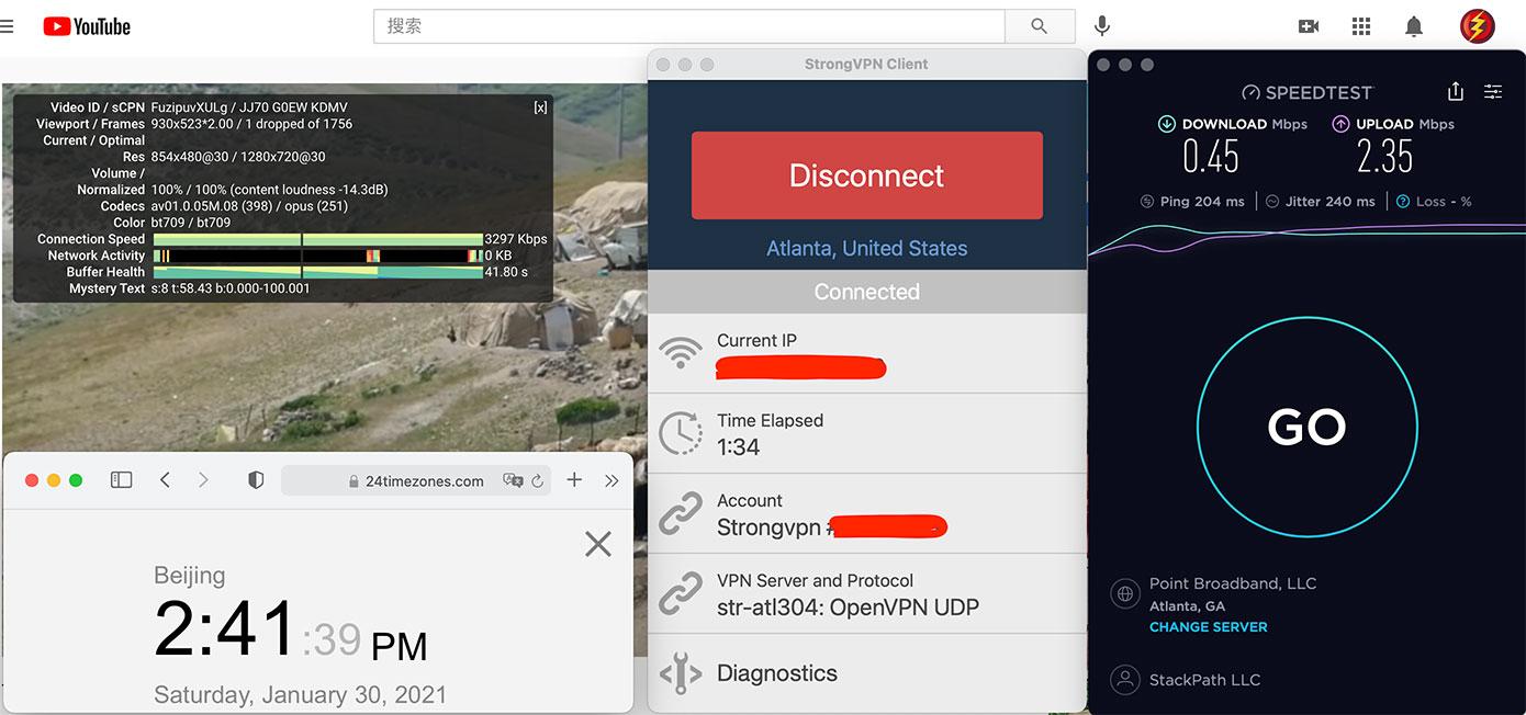 Macbook-StrongVPN-USA-Atlanta(304)-中国VPN翻墙-科学上网-10BEASTS-BARRY测速-2021-01-30-at-14.41.40
