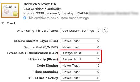 NordVPN Mac IKEv2 证书安装-4
