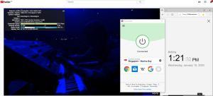 Windows10 ExpressVPN Singapore - Marina Bay 中国VPN翻墙 科学上网 YouTube连接速度 VPN测速 - 20200115