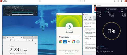 Windows10 ExpressVPN lightway-udp协议 USA - New York 服务器 中国VPN 翻墙 科学上网 Barry测试 10BEASTS - 20210802