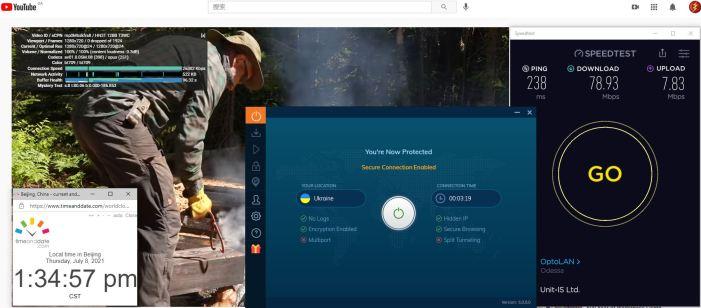 Windows10 IvacyVPN 6.0.0.0版本 IKEv2协议 Ukraine 服务器 中国VPN 翻墙 科学上网 Barry测试 10BEASTS - 20210708