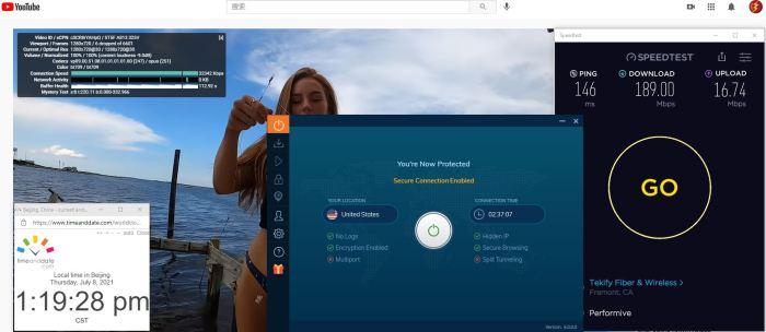 Windows10 IvacyVPN 6.0.0.0版本 IKEv2协议 United States 服务器 中国VPN 翻墙 科学上网 Barry测试 10BEASTS - 20210708
