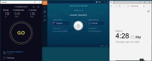 Windows10 IvacyVPN Australia 中国VPN 翻墙 科学上网 SpeedTest测速-20200416