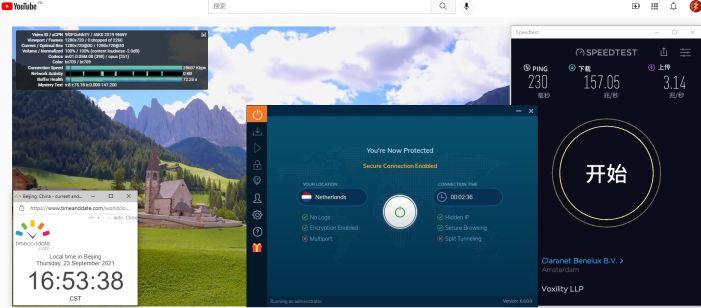 Windows10 IvacyVPN Automatic Netherlands 服务器 中国VPN 翻墙 科学上网 Barry测试 10BEASTS - 20210923