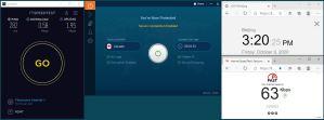 Windows10 IvacyVPN Automatica Canada 服务器 中国VPN 翻墙 科学上网 翻墙速度测试 - 20201009