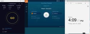 Windows10 IvacyVPN Belgium 中国VPN 翻墙 科学上网 SpeedTest测速-20200410