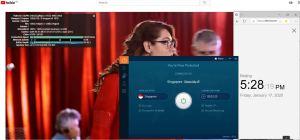Windows10 IvacyVPN Singapore中国VPN翻墙 科学上网 Youtube测速 - 20200117