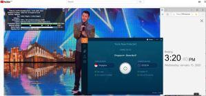 Windows10 IvacyVPN Singapore 中国VPN翻墙 科学上网 YouTube连接速度 VPN测速 - 20200115