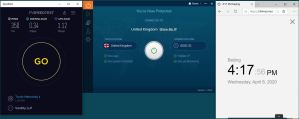 Windows10 IvacyVPN UK 中国VPN翻墙 科学上网 SpeedTest测速-20200408