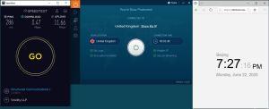 Windows10 IvacyVPN UK 中国VPN 翻墙 科学上网 测速-20200622