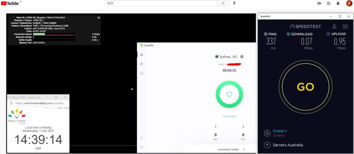 Windows10 PureVPN IKEv2协议 Australia - Sydney 服务器 中国VPN 翻墙 科学上网 Barry测试 10BEASTS - 20210707