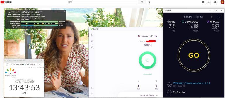 Windows10 PureVPN IKEv2协议 USA - Houston 服务器 中国VPN 翻墙 科学上网 Barry测试 10BEASTS - 20210615