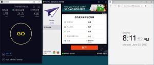 Windows10 PureVPN Russia 中国VPN 翻墙 科学上网 测速-20200622