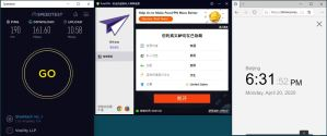 Windows10 PureVPN USA 中国VPN 翻墙 科学上网 SpeedTest测速-20200420