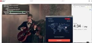 Windows10 StrongVPN South-Korea 中国VPN翻墙 科学上网 Youtube测速 - 20200117