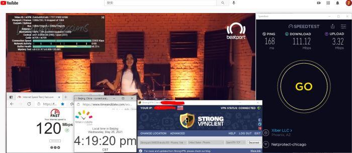 Windows10 StrongVPN TCP协议 USA - Phoenix 303 服务器 中国VPN 翻墙 科学上网 10BEASTS Barry测试 - 20210526