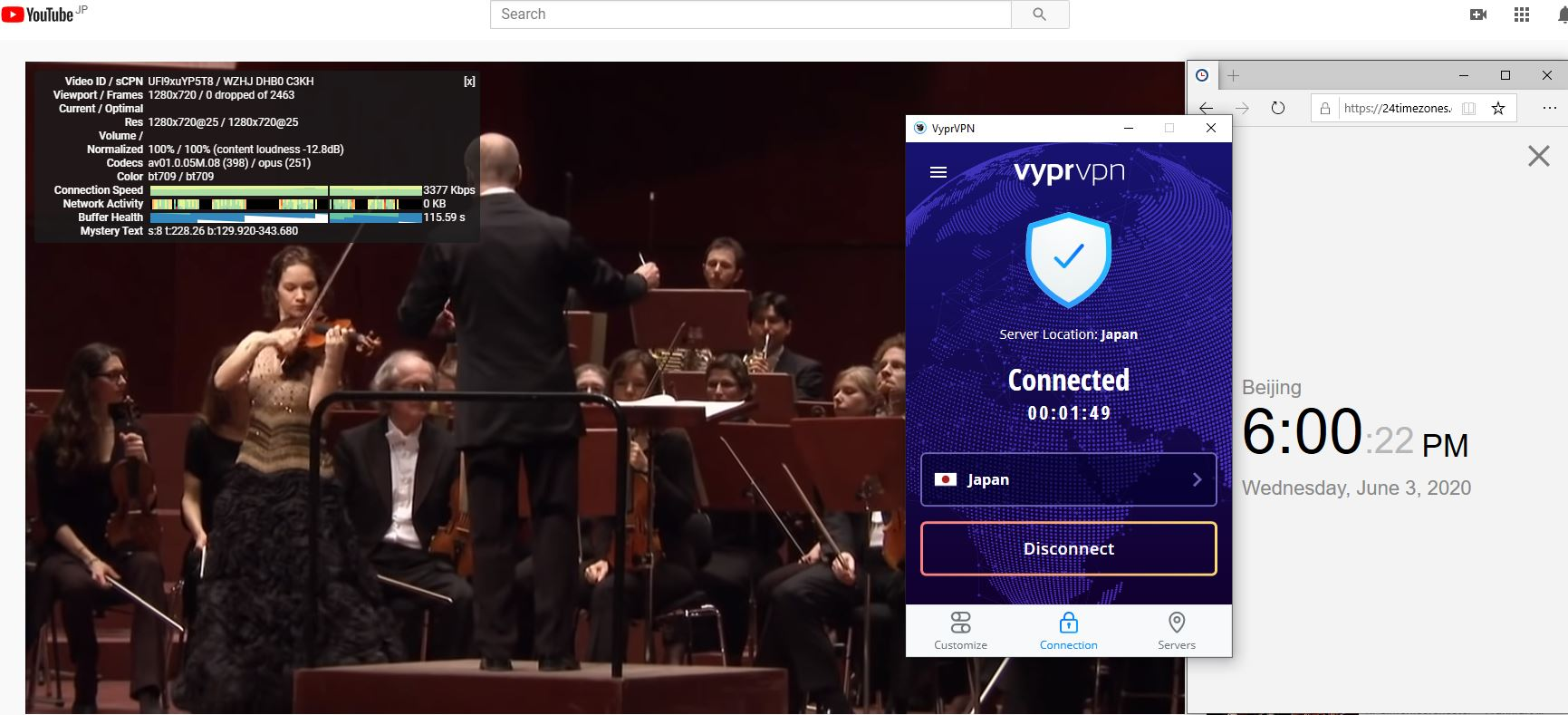 Windows10 VyprVPN WireGuard Japan 中国VPN 翻墙 科学上网 测速-20200603