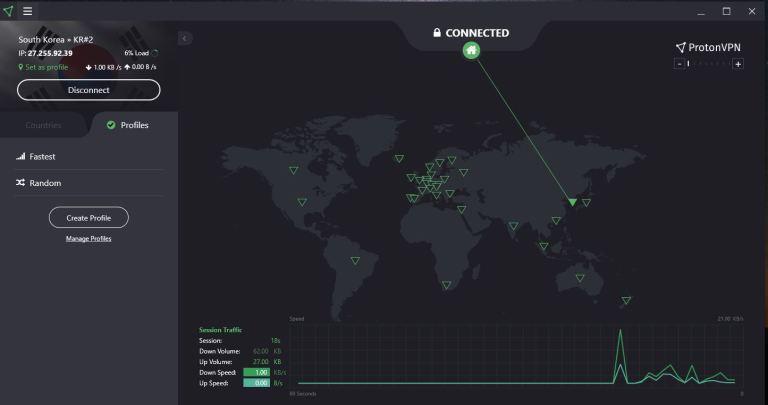 protonvpn windows-快速连接-南韩服务器.JPG