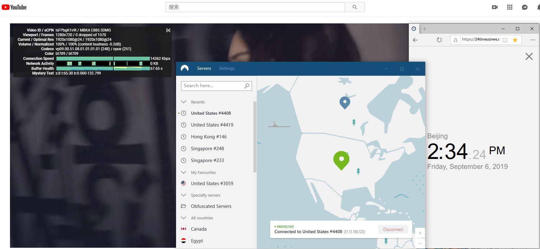 windows nordvpn United states #4408 服务器 中国vpn翻墙 科学上网 YouTube速度测试-20190906
