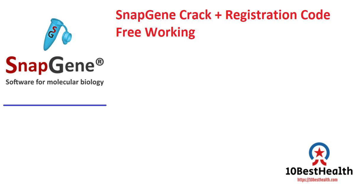 SnapGene Crack + Registration Code Free Working