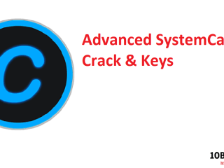 Advanced SystemCare Crack & Keys