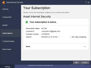 Avast Internet Security Activation Keys