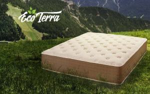 eco-terra mattress review mattress outside on a green mountain