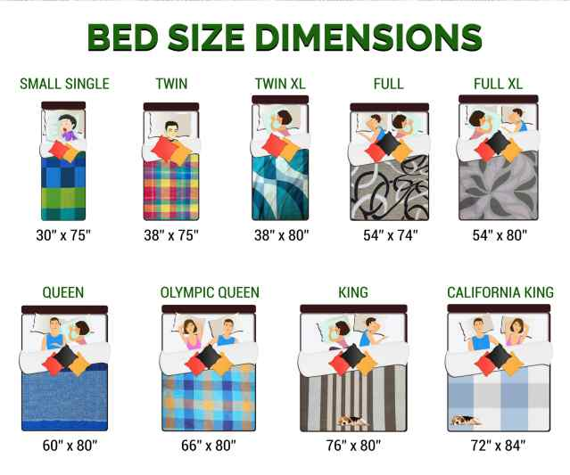 Bed size dimensions chart and infographic guide