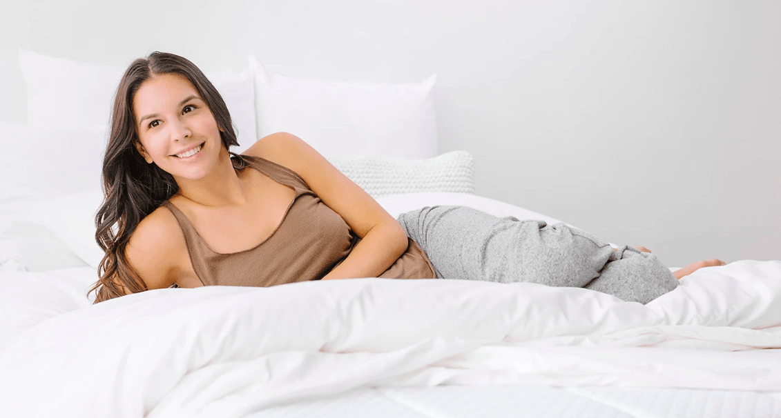 woman on nectar mattress