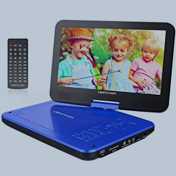 DBPOWER 10.5 Portable DVD Player With Rechargeable Battery Portable DVD Player With Great Reviews