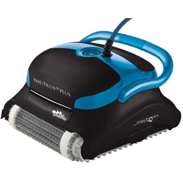 Dolphin Nautilus CC lead Automatic Robotic Pool Cleaner taking into account easy to scrub depth Load Filters Ideal for Swimming Pools in the environment to fifty Feet