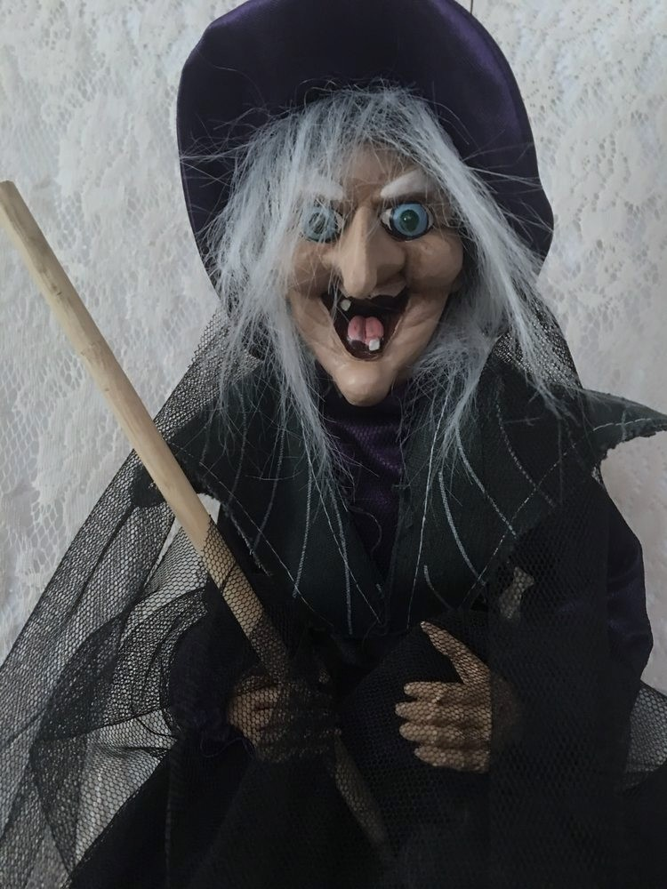 Hanging Animated Life Size Talking Witch