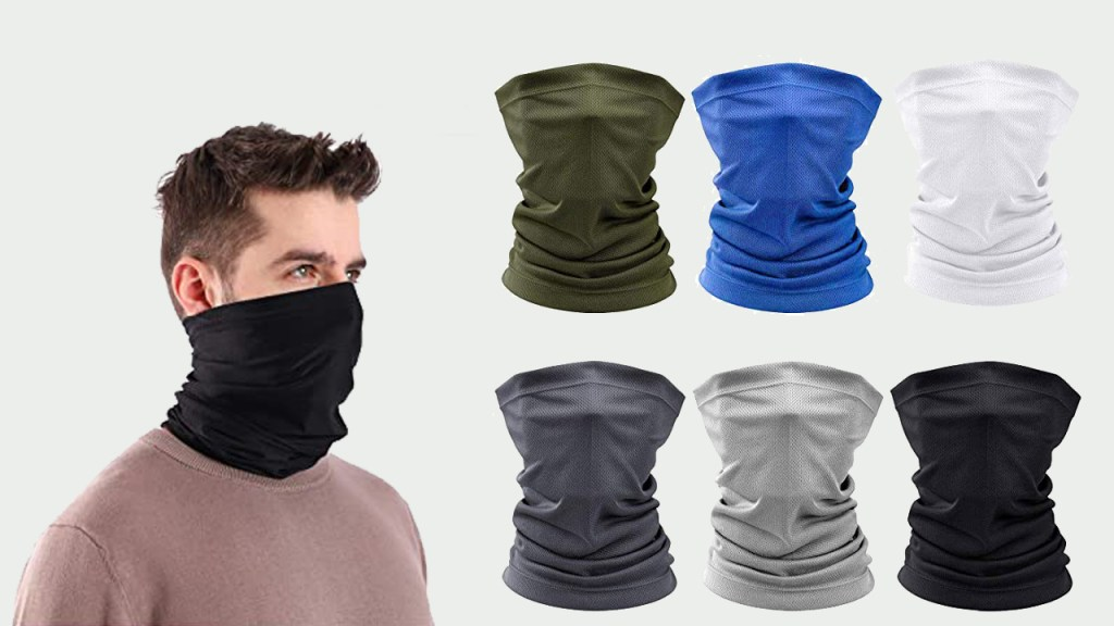 6 Pieces Sun UV Protection Face Mask Neck Gaiter Scarf