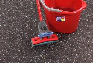 How to clean a rubber garage floor
