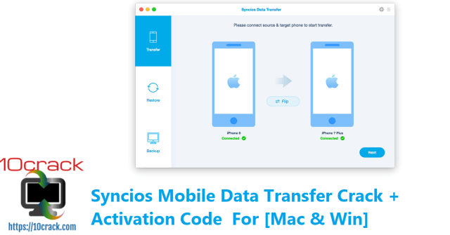 Syncios Mobile Data Transfer Crack + Activation Code For [Mac & Win]